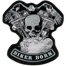 """Panhead Skull Eagle Patch 5"""" Motorcycle  Motorbike biker colourfast  embroidered"""