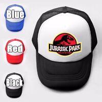 Jurassic Park Tyrannosaurus Pattern Trucker Baseball Cap Solid Mesh Curved Hat