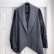 Theory 'Laura' Leather Sleeve Jacket  size: Medium