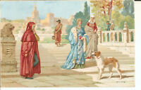 Cartolina FIRENZE AREZZO Incontro di Petrarca e Laura in Avignone
