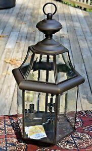 "Kichler Lighting EMBASSY ROW 3 Light 21"" OLDE BRONZE Post Lantern 9985OZ MINT"