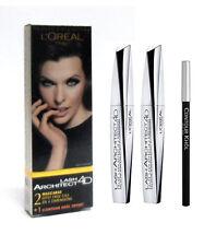 Kit L'OREAL LASH ARCHITECT 4D 2 mascara black/nero + 1 matita contour khol nera