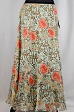 NEW Marshall Fields Women's Skirt Size 8 Silk Floral Full Length Vintage Sequin