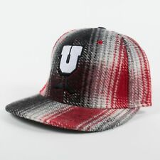 UNDEFEATED x U-Man Plaid Strapback Cap Hat Red/White/Black (H9) $32