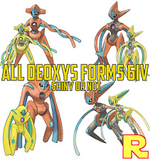 6IV DEOXYS - SHINY OR NOT All Forms ?? POKEMON ULTRA SUN & MOON / HOME ?? Legit