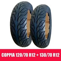 COPPIA PNEUMATICI GOMME SCOOTER 120/70-12 58P + 130/70-12 62P DEESTONE D825