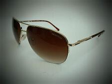 NEW men's KENNETH COLE KC 1098 gold semi rimless aviator sunglasses