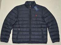 New Large L POLO RALPH LAUREN Mens packable puffer down jacket coat black winter