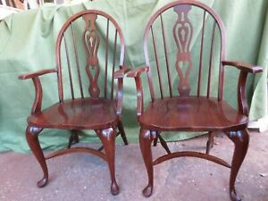 Pennsylvania House Traditional Solid Cherry Queen Anne Spindle-Back Arm Chair