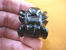 (Y-SPI-212) Black Widow baby spider Onyx stone carving I love little spiders gem