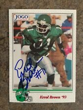 signed in person ERROL BROWN CFL SASKATCHEWAN ROUGHRIDERS  JOGO #131   1993
