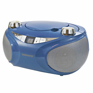 Magnavox MD6949-BL Portable CD Boombox with AM/FM Radio and Bluetooth in Blue