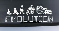 Sidecar Evolution vinyl decals stickers graphics, cars, choose white or black