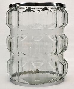 1 Bath & Body Works GLASS Metal Large 3-Wick Candle Holder Sleeve Luminary 14.5