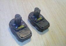 2x RYOBI ONE+ P102 18 VOLT LITHIUM ION BATTERY 18V 24WH LI-ION(2 pack)