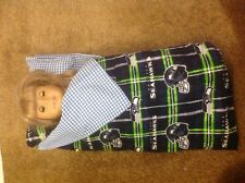 "American Girl 18"" Nfl Seattle Seahawks Sleeping bag/pillows baby doll clothes"