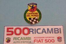 FIAT 500 F/L/R ADESIVO FREGIO CAMPIONE DEL MONDO SCORPIONE ABARTH STEMMA IN PVC