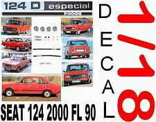 ANEXO DECAL 1/18 SEAT 124 D ESPECIAL 2000 FL 90 1979 (01)