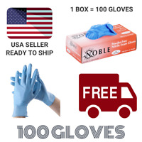 Blue Nitrile Gloves Powder Free (Latex Free) LARGE Exam Grade - 100 Per Box