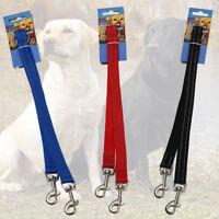 REFLECTIVE Double Dog Pet Lead Leash Splitter Coupler Clip for Collar Harness