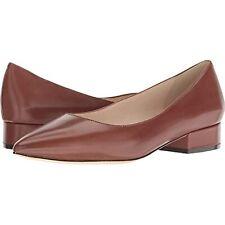 Cole Haan Women's Vesta Skimmer Slip-on Flats Cherry Mahogany Leather 8.5 B (M)