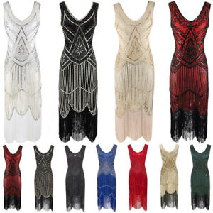 Great Gatsby 1920s Cocktail Party Sequin Fringe Flapper INSPIRED Dress PLUS SIZE