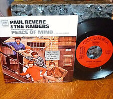 """*<* PAUL REVERE & THE RAIDERS 1967 """"PEACE OF MIND"""": MINT 45 & M- PICTURE SLEEVE!"""