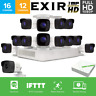 EZVIZ CRISPr 2MP 1080p FULL HD DVR 2TB 16CH 12 EXIR Cameras Home Security System