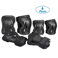 BMX Bike Knee Pads and Elbow Pads w/ Wrist Guards 6 PCS Protective Gear Set Kids