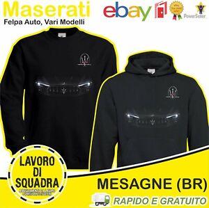 Felpa - MASERATI - Auto Car Italian Motor Motori Automobile Idea Regalo Cars