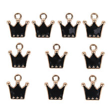 10Pcs/Set Enamel Alloy Little Crown Charms Pendant Jewelry DIY Making CraftGi FT