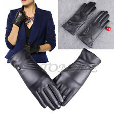 Women's Luxury Leather Winter Super Warm Touch ScreenGloves Cashmere Bow Mitten