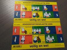 Nederland NVPH 2370 2x Vel Kinderzegels 2005 Frankeerwaarden Postfris !!!
