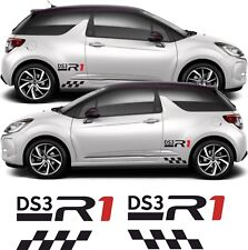 Citroen DS3 DS 3 R1 Racing Alpha Sport chequered side stickers decals graphics