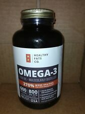 BodyVega Nutrition Omega 3 Fish Oil Pills (120 Ct) The Healthy Fats Co Potent!