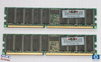 HP 1GB KIT DDR - 2 x 261584-041 (512MB PC-2100R ECC Reg Server 184-Pin DIMM) RAM