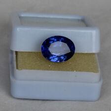 Natural Royal Blue Sapphire 4.95 Ct Kashmir Oval Cut Certified Loose Gemstone