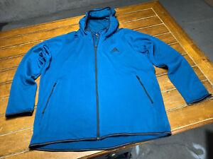 Adidas Full Zip Hooded Freelift Climawarm Hoodie Athletic Sweatshirt