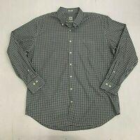 Peter Millar Shirt Men's XL Long Sleeve Gingham Plaid Casual Dress Button Down