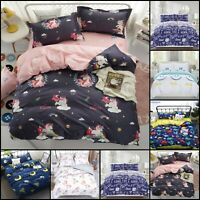 Kids Children Bedding Single Double Duvet Quilt Cover Set Boys Girls Designs