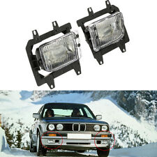 For BMW E30 85-93 3-Series 2/4 DR Front Bumper Clear OE Fog Lights Lens Kit A