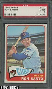 1965 Topps #110 Ron Santo Chicago Cubs HOF PSA 9 MINT