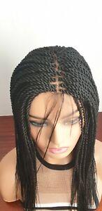 Handmade braided wigs, twist braids.