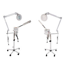 New 2 In 1 5X Magnifying Facial Steamer Lamp Hot Ozone Beauty Machine Spa Salon