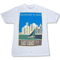 Mumford & Sons East Coast USA Tour 2013 White T Shirt New Official Soft