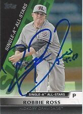 Texas Rangers ROBBIE ROSS Signed Topps Card