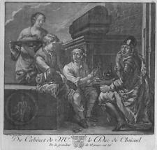 Original etching (about 1771) – Tale of the soldier