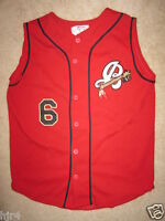 Burlington Cleveland Indians #6 Minor League Game Worn Jersey
