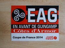 Autocollant / sticker football - EN AVANT DE GUINGAMP COUPE DE FRANCE 2014