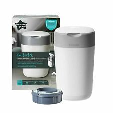 Tommee Tippee Nappy Bin System, White, Twist and Click Sangenic Advanced